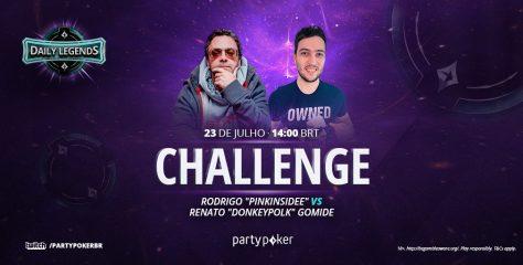 "Rodrigo ""Pinkinsidee"" Moreira e Renato ""Donkeypolk"" Gomide, ambos do Stars Team, se enfrentam no DLC"