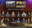 Popular WPT Pro Hunt Event Returns to partypoker August 13